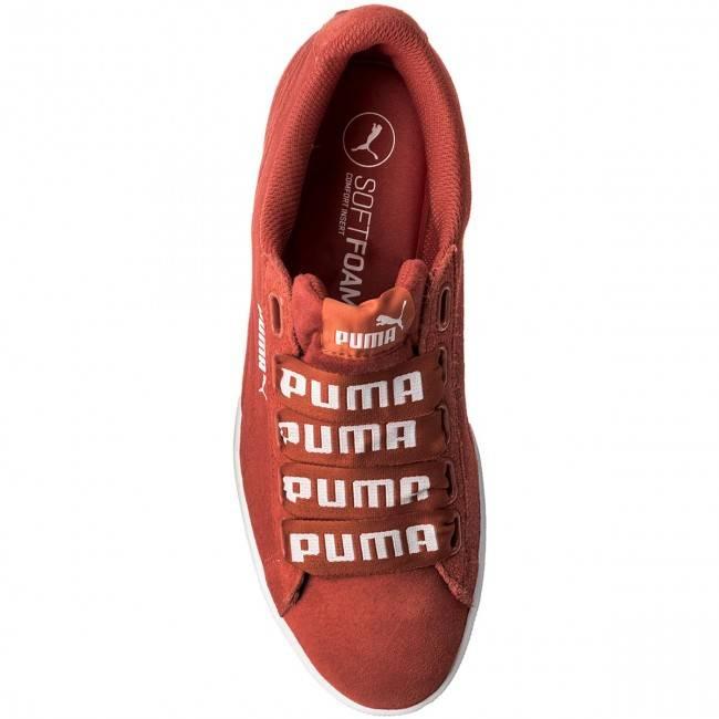Sneakersy Puma Vikky Ribbon Bold 365312 02 czerwone