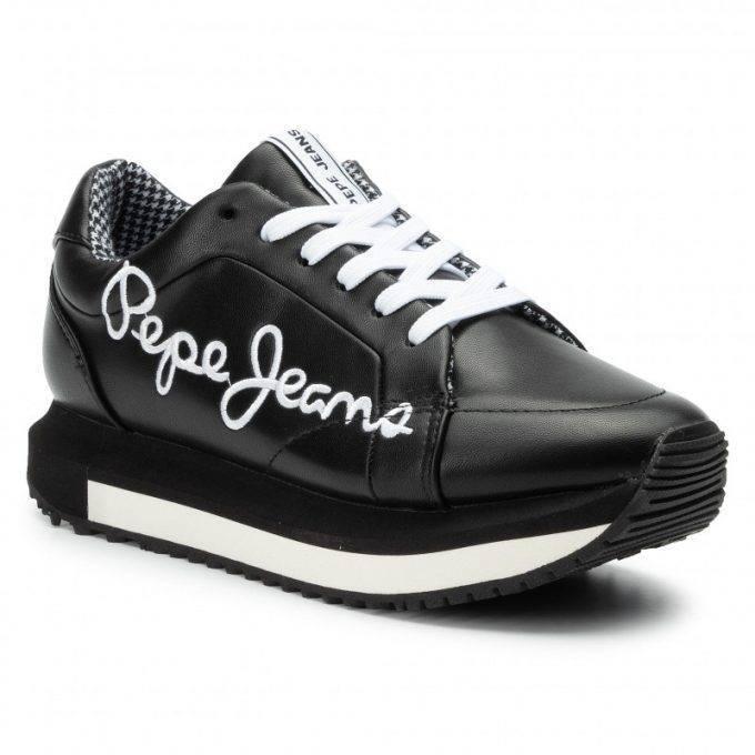 Damskie buty sneakersy Pepe Jeans czarne