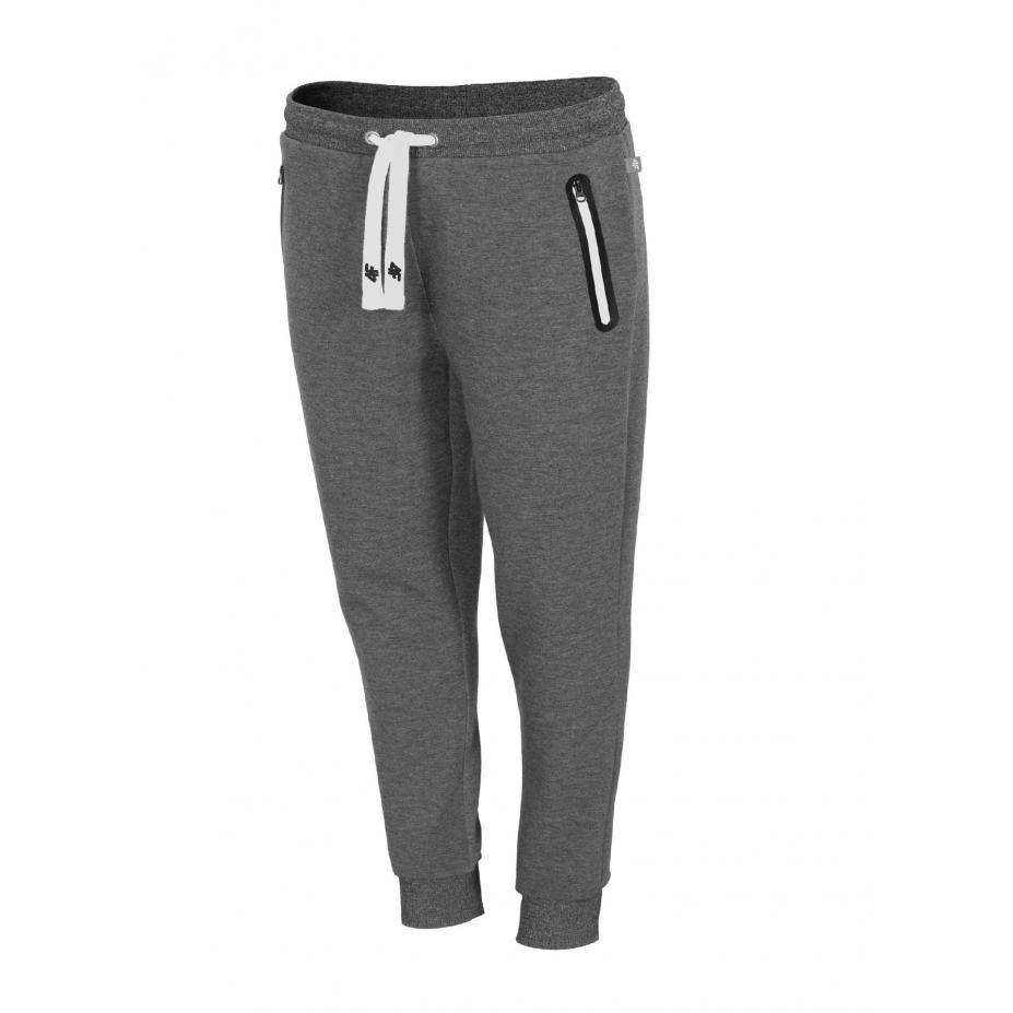 Damskie spodnie dresowe 4f H4L19-SPDD002 24M ciemny szary