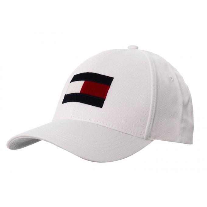 Czapka Tommy Hilfiger BIG FLAG CAP biała