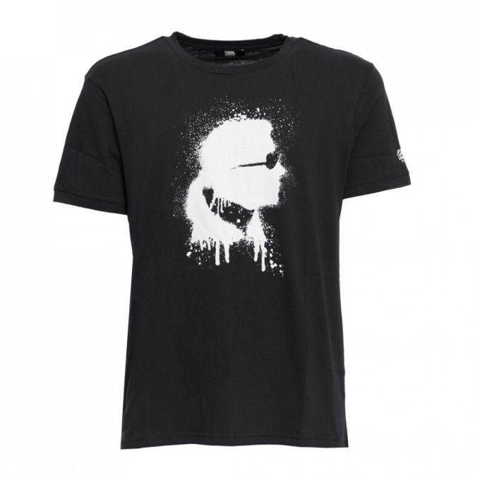 Koszulka Karl Lagerfeld Kl 18ts01 czarna