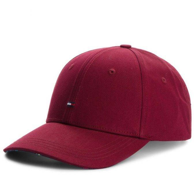 Czapka Tommy Hilfiger CLASSIC BB CAP bordowa