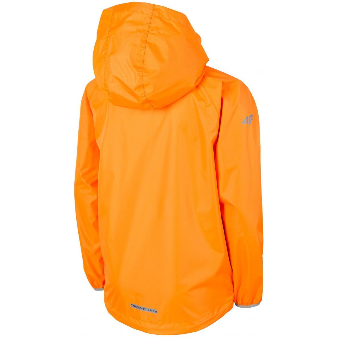 Kurtka sportowa dziecięca 4f J4L19-JKUM403 70N pomarańczowy neon