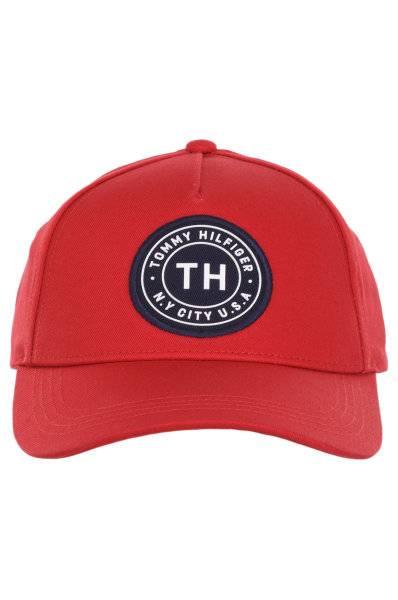Czapka Tommy Hilfiger TH BADGE CAP czerwona