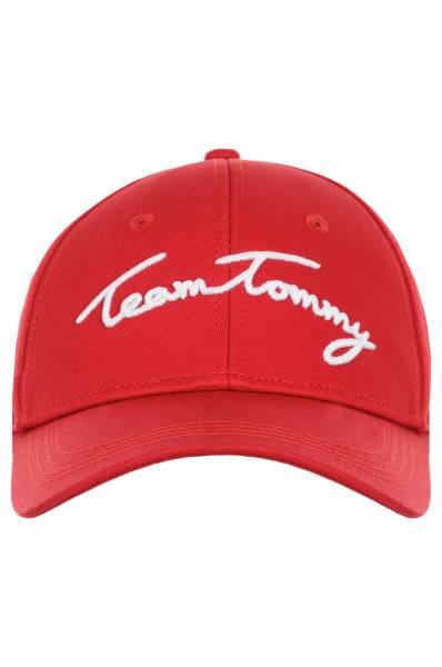 Czapka Tommy Hilfiger TOMMY TEAM CAP czerwona