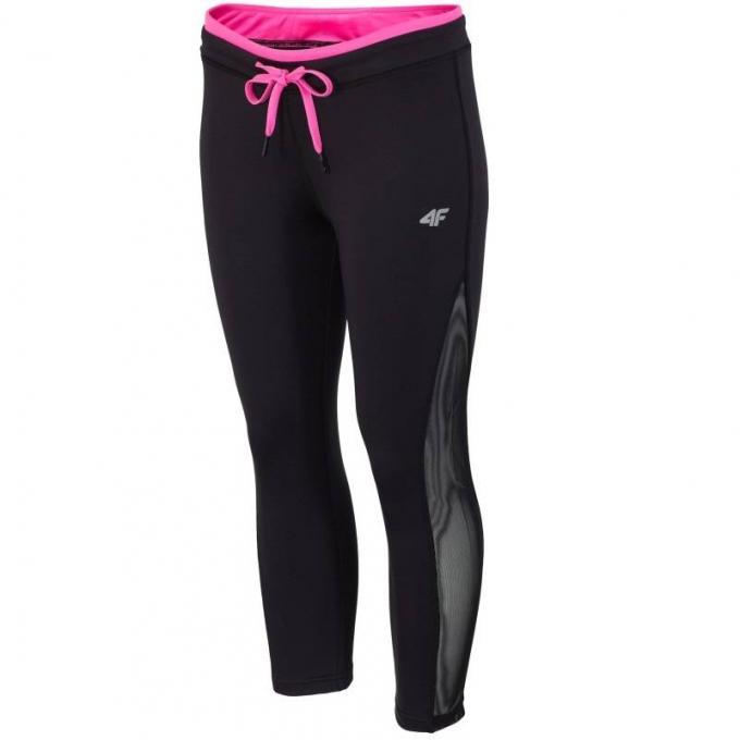 Damskie spodnie treningowe 4F H4L17 SPDF002-60 czarne