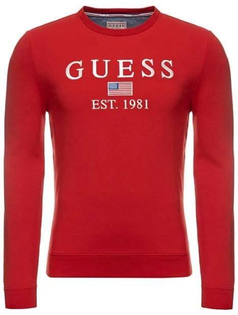 Męska bluza Guess czerwona GUMM93Q23K6ZS0-TLRD_CPRI1RED