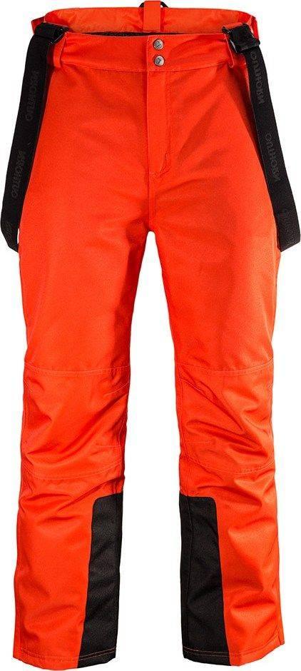 Męskie spodnie narciarskie Outhorn  HOZ17 SPMN601 732 pomarańczowe
