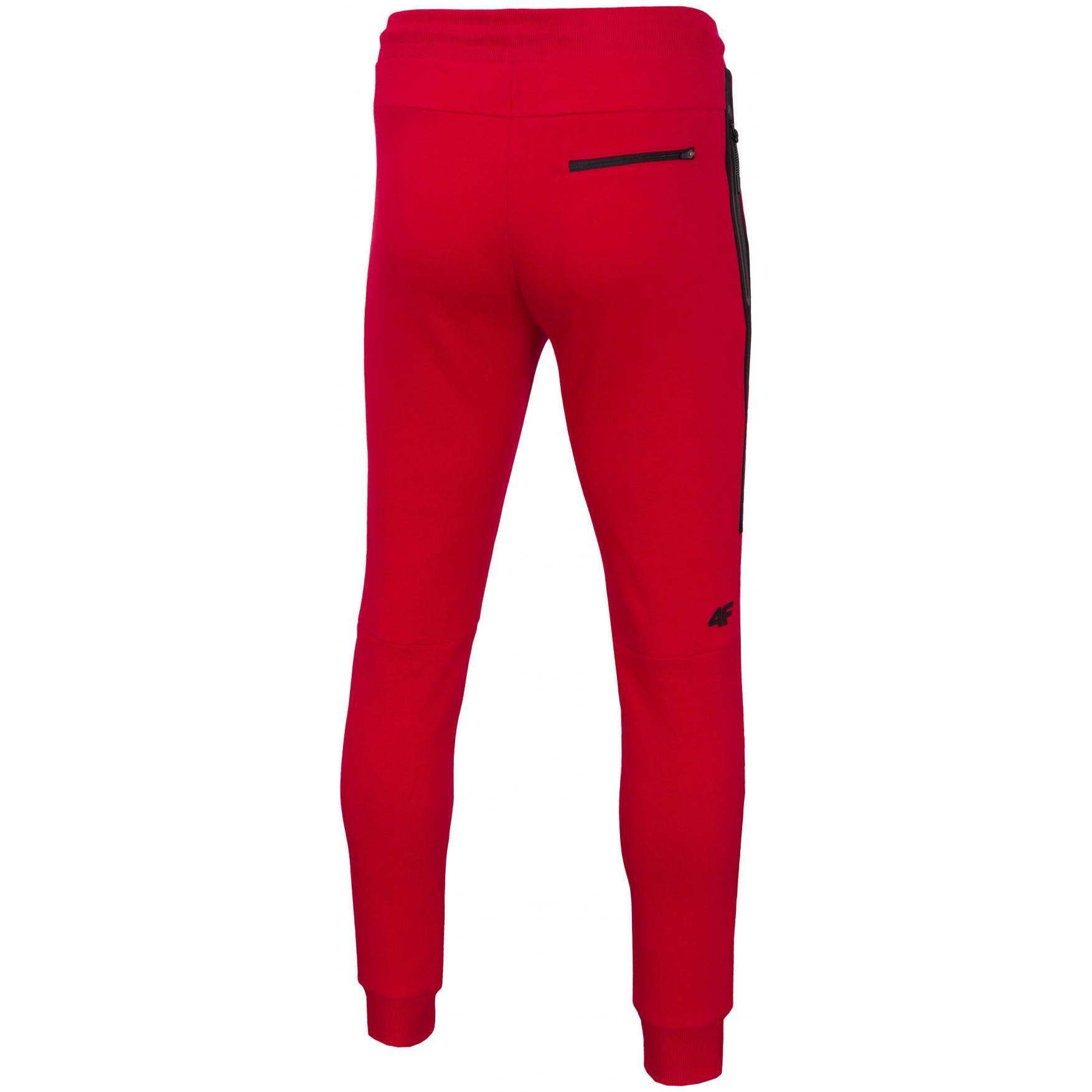 Spodnie dresowe męskie 4F czerwone