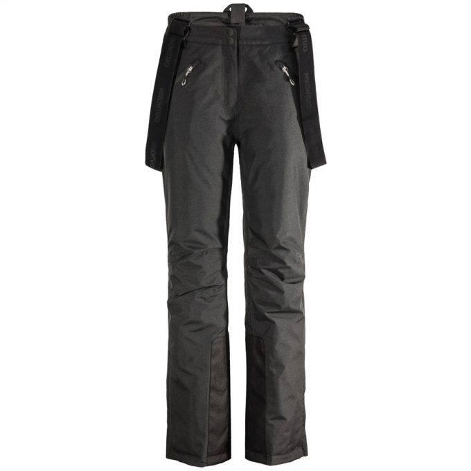 Damskie spodnie narciarskie Outhorn czarny melanż