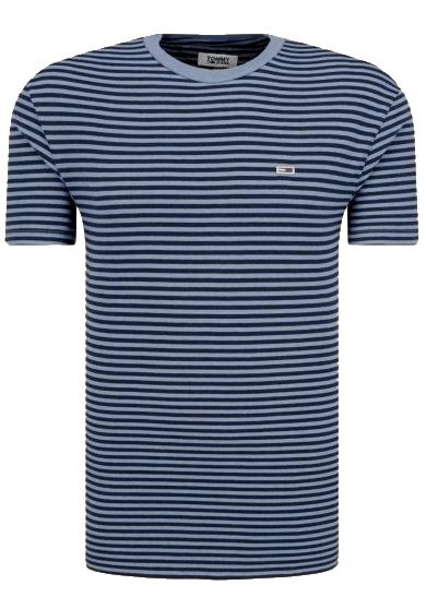Męski T-shirt w paski Tommy Hilfiger granatowy DM0DM055150CD
