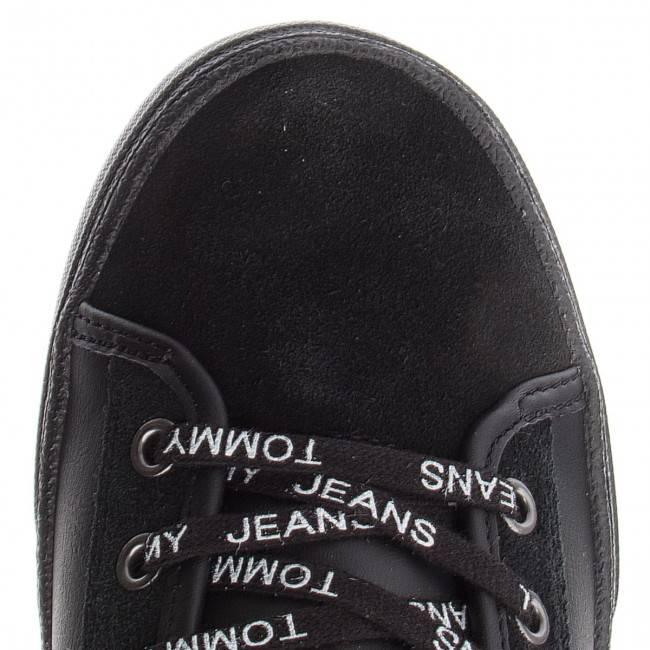 Męskie trampki Tommy Hilfiger Jeans  EM0EM00125 czarne