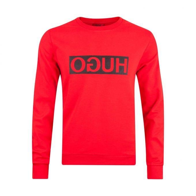 Męska bluza Hugo Boss 5031052210184534 01 620 czerwona