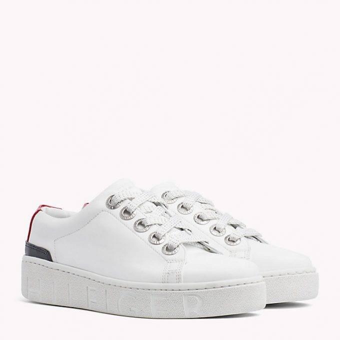 Damskie buty Tommy Fashion sneake białe FW0FW03343