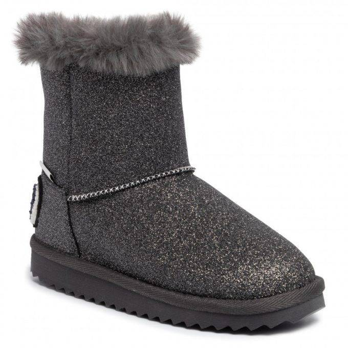Damskie śniegowce Pepe Jeans czarne Angel Glitter