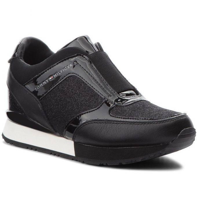 Damskie sneakersy Tommy Hilfiger czarne FW0FW03553