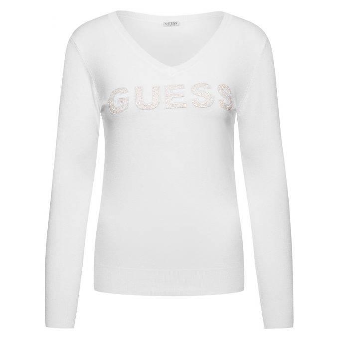 Damski sweter GUESS biały