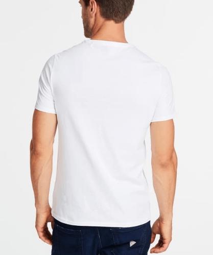 Męski T-shirt GUESS biały