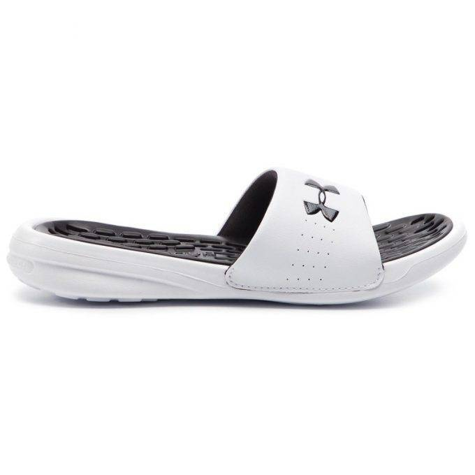 Klapki Damskie Under Armour Playmaker Fix Sl 3000063-101 Wht