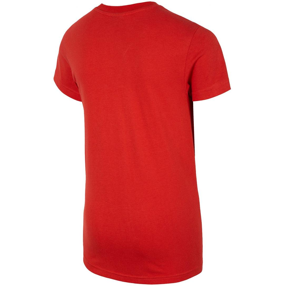 Chłopięca koszulka 4F HJL20-JTSM023C 62S czerwona