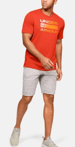 Męski T-Shirt Under Armour pomarańczowy