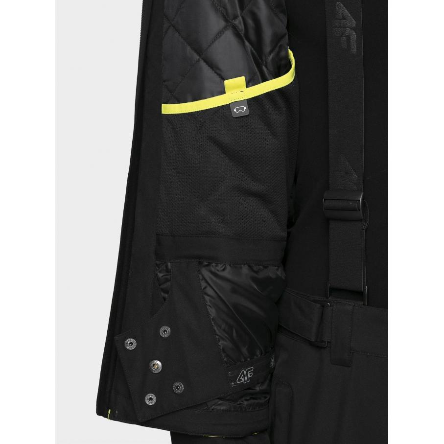 Męska kurtka 4F czarno-żółta