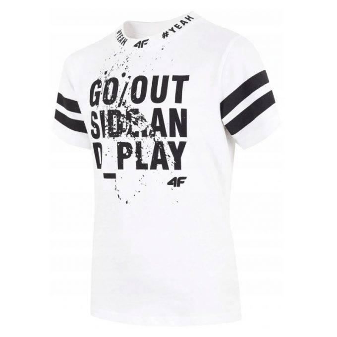 Koszulka dziecięca 4F HJL20-JTSM012 10S