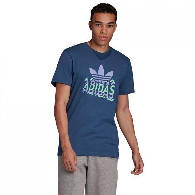 Męska koszulka Adidas niebieska