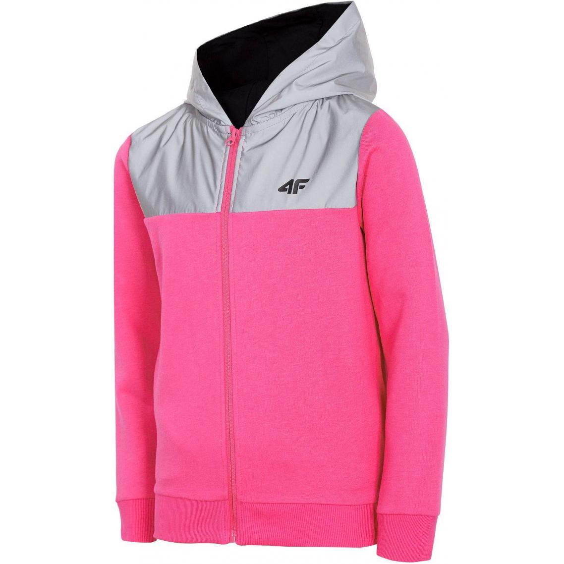 Dziewczęca bluza 4F różowa