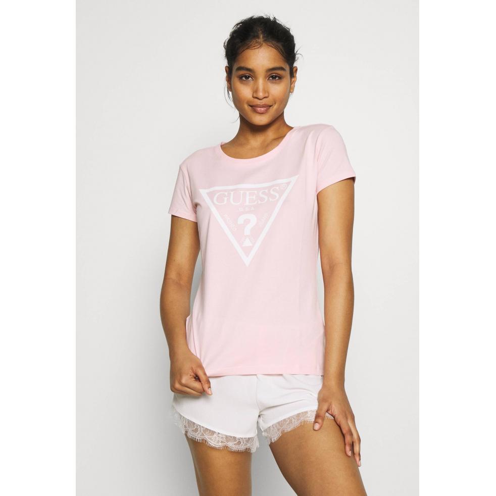 Damska koszulka GUESS różowa