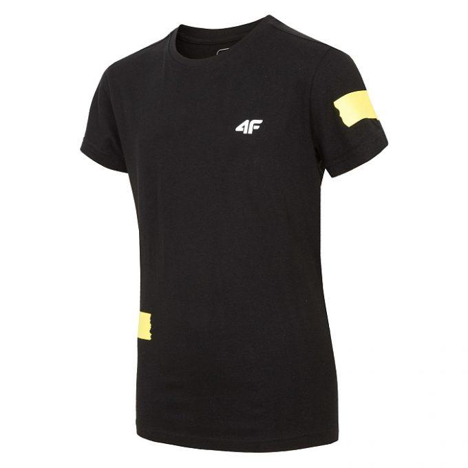 Chłopięca koszulka 4F HJZ19-JTSM002 21S czarna