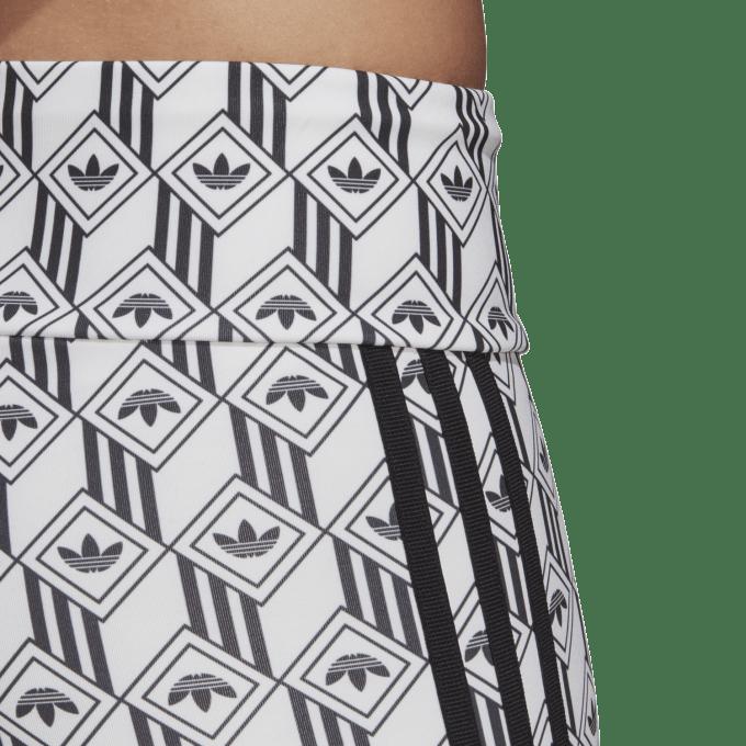 Damskie Spodenki Adidas czarno-białe