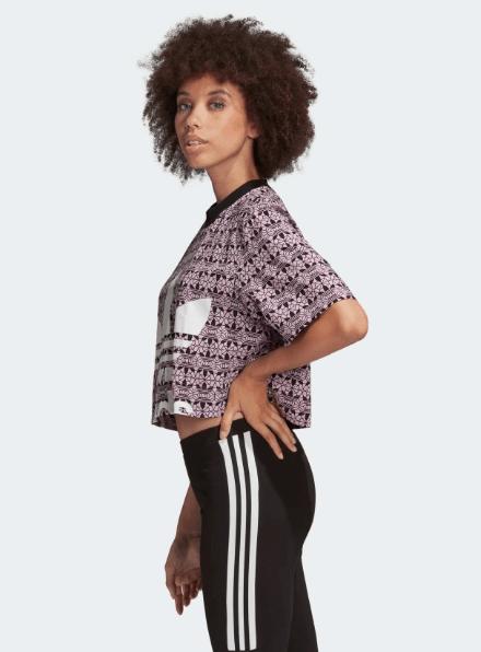 Damski Top Adidas fioletowy