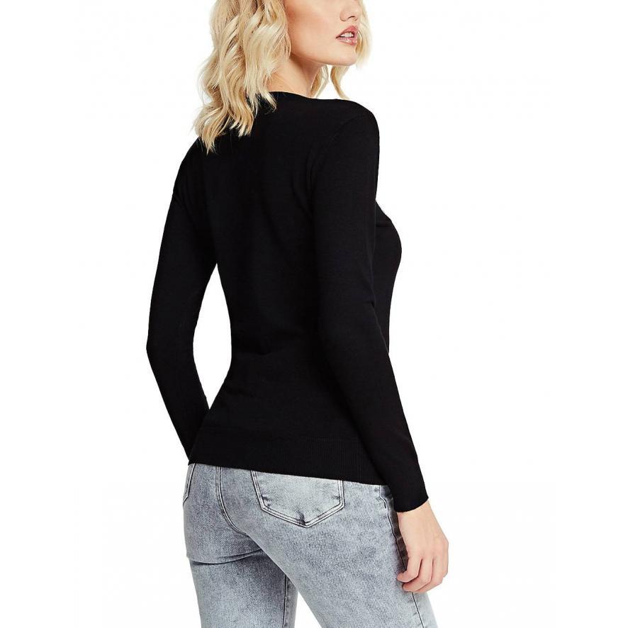 Damski sweter GUESS czarny
