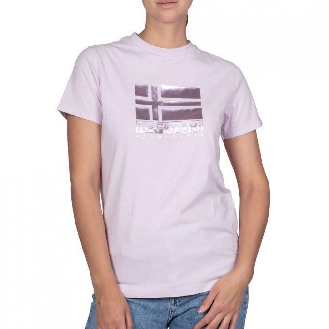 Damska Różowa Koszulka Napapijri NP0A4E3UP841