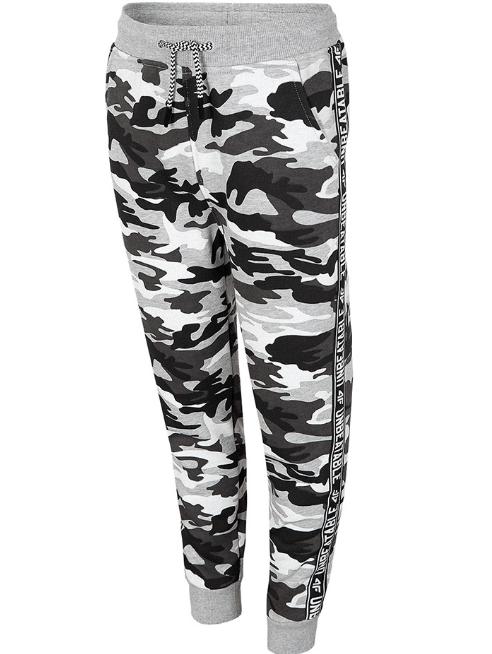 Spodnie dresowe chłopięce 4F multikolor