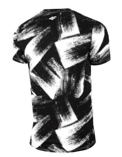 Męski T-Shirt 4F H4L20-TSM008 10A czarno-biała