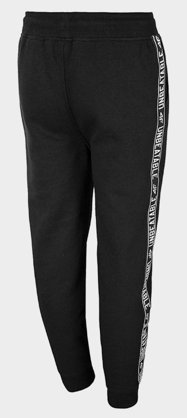 Spodnie dresowe chłopięce 4F czarne