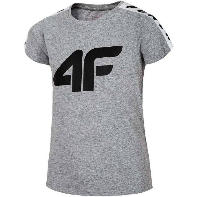 Dziewczęca koszulka 4F HJL20-JTSD004A 25M szara