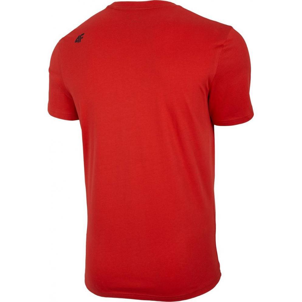 Męski T-Shirt 4F NOSH4-TSM004 62S czerwony