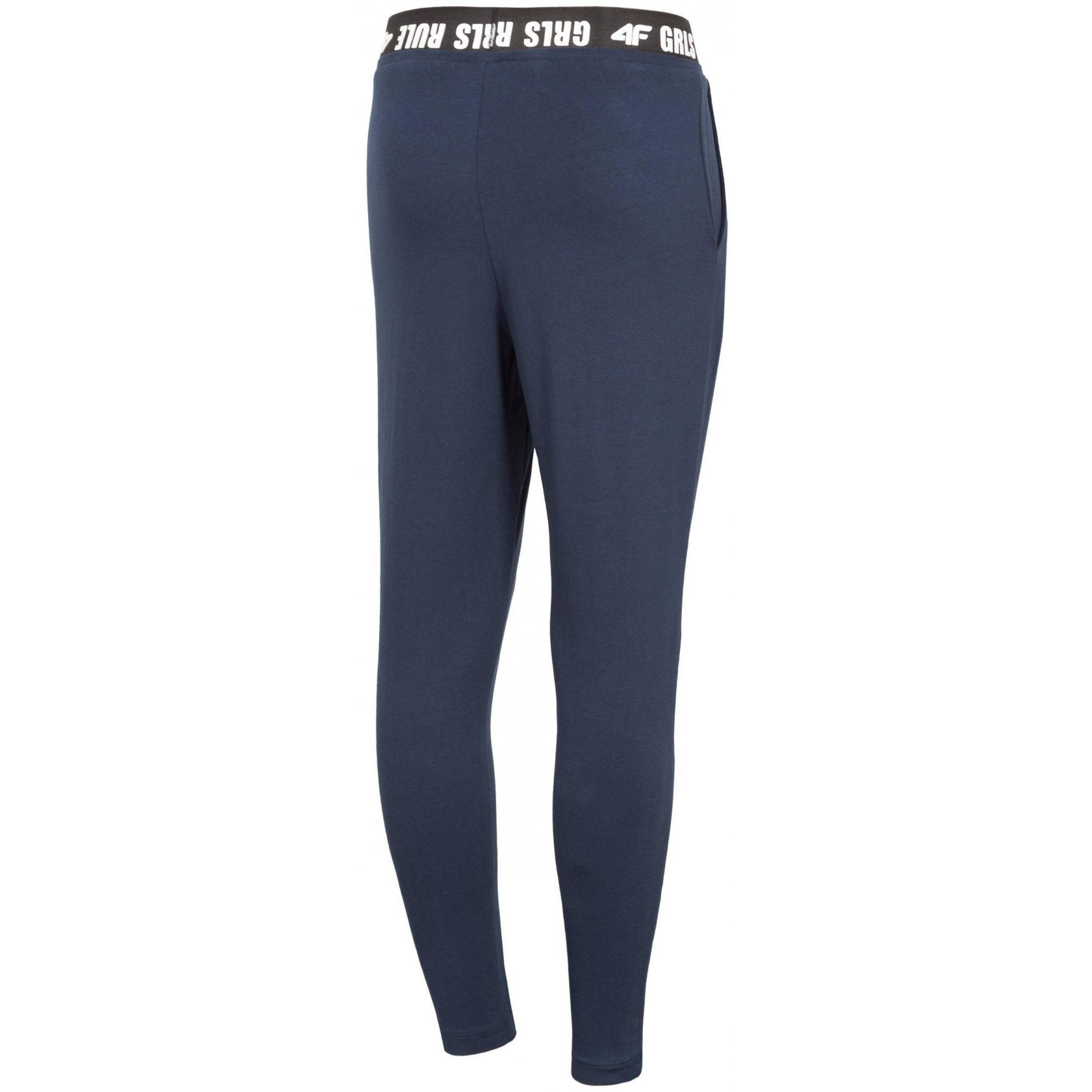 Dziewczęce spodnie dresowe 4F granatowe