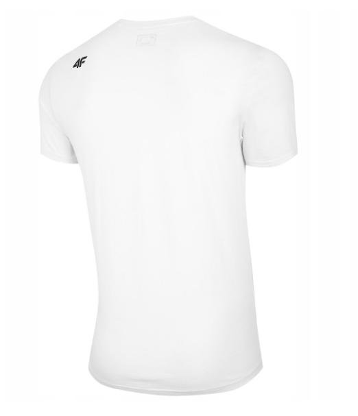 Męski T-Shirt 4F H4L20-TSM012 10S Biały