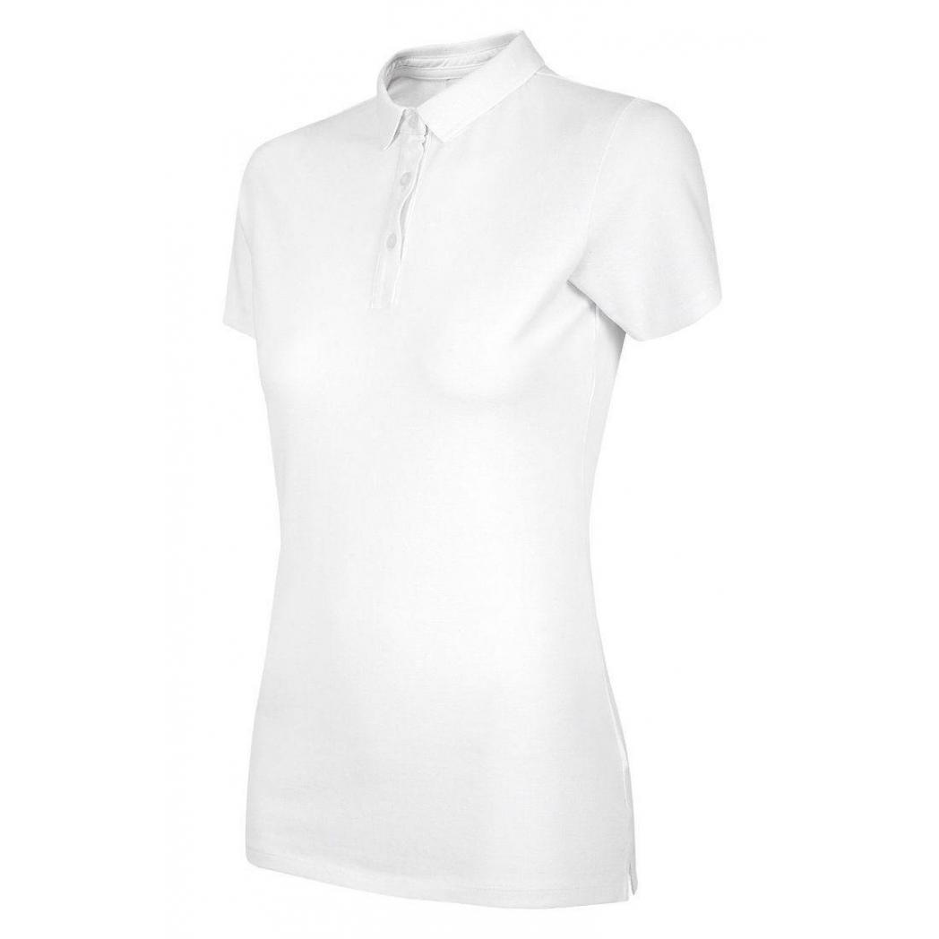 Koszulka polo damska OUTHORN biała