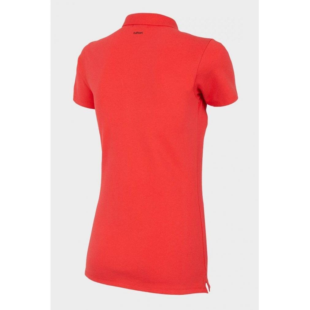 Koszulka polo damska OUTHORN koralowa