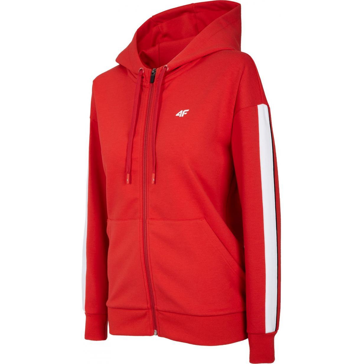 Damska bluza 4F czerwona, czarna