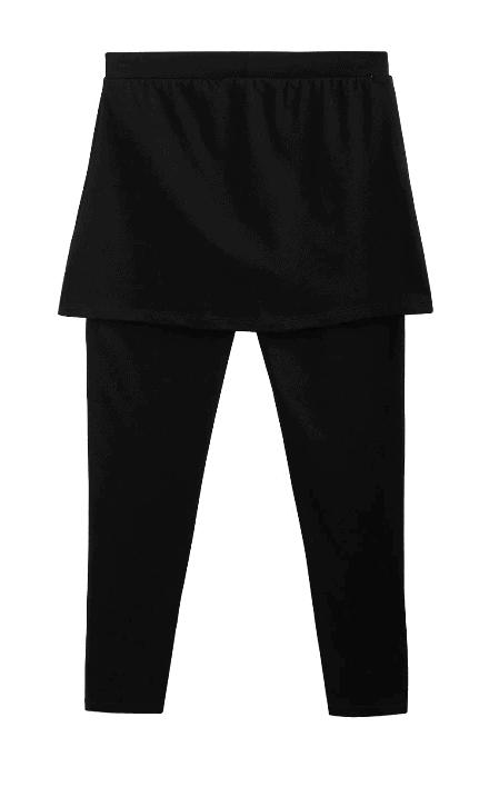Legginsy dziewczęce ze spódniczką 4F czarne