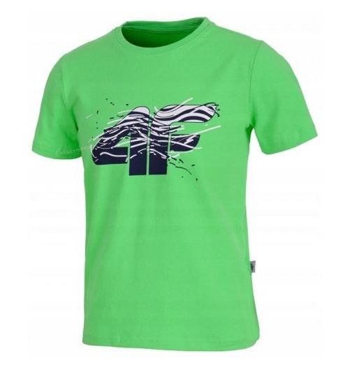 Koszulka chłopięca 4F HJL20-JTSM015A 45N zielona