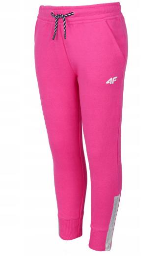 Dziewczęce spodnie dresowe 4F różowe