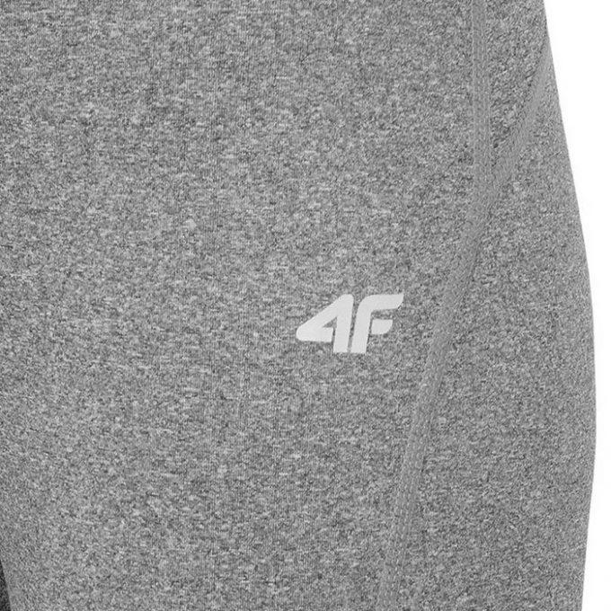 Damskie legginsy treningowe 3/4 4F H4L19-SPDF001 20M szary melanż