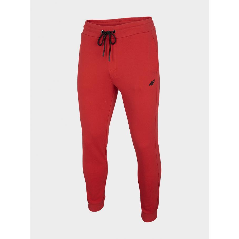 Męskie spodnie dresowe 4F NOSH4-SPM001 62S czerwone